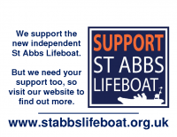 Support St Abbs Lifeboat A4 Poster