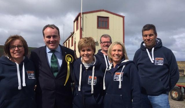 Scotland's First Minister Visits St Abbs Lifeboat Station